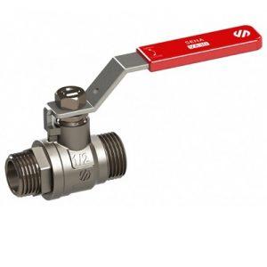 (AR)SENA 151105 Кран шаровый, стальной рычаг, никел. НР 1″