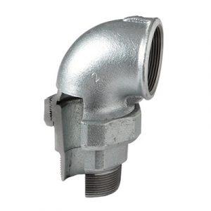 (ATU) Оц- 97 Разъемное соединение угловое торцевое В/Н, чугун оцинкованный