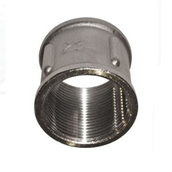 Муфта, латунь никелированная, внутренняя резьба, SOBIME, артикул 66