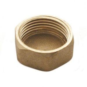 Заглушка-колпак, латунь, внутренняя резьба, SOBIME, артикул 44