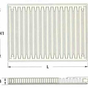Радиаторы DeLonghi Radel, тип 11V, нижнее подключение