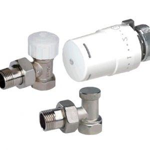 (AR)TIBET KCN01 Комплект вентилей радиаторных угловых с термоголовкой 880020+501275+507305