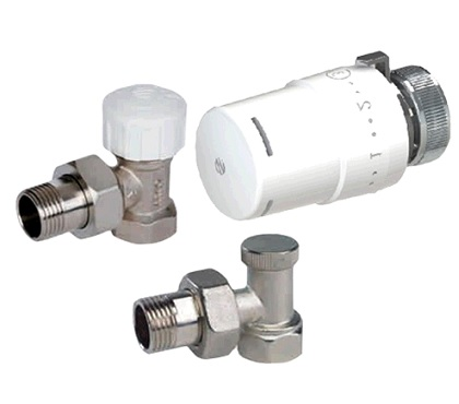 (AR)TIBET KCT01 Комплект вентилей радиаторных угловых с термоголовкой 880040+501275+507205