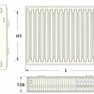 Радиаторы DeLonghi Radel, тип 30, нижнее подключение