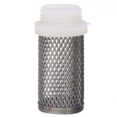 Фильтр сетчатый для обратного клапана (насадка), сталь/пластик, НР, , STOP, арт.01811  1/2″