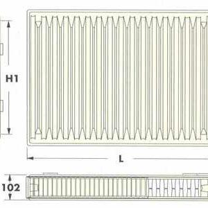 Радиаторы DeLonghi Radel, тип 22V, нижнее подключение