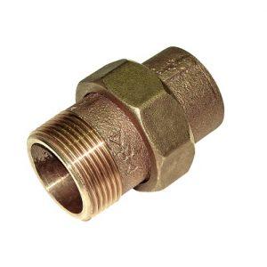 Разъемное соединение коническое, бронза, соединние пайка/НРезьба, IBP, артикул 4341g