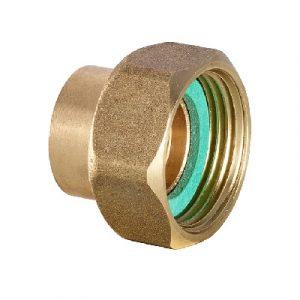 Муфта с накидной гайкой, бронза, соединение под пайку/ВРезьба, IBP, артикул 4359g