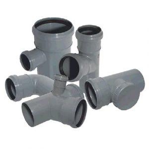Фитинги и фасонные части для канализационных труб