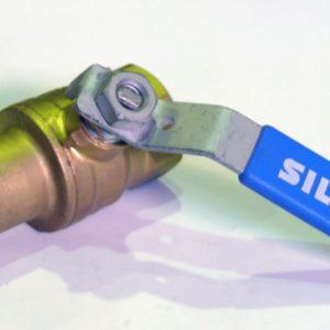 Кран шаровый с обратным клапаном, ВP/ВР, удлиненный, стальной рычаг, РN50, латунь, SIL арт.М1292  1″
