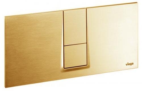 Кнопка Visign for Style 14 Viega 8334.1 для смыва, пластик, цвет»золото»  271х140