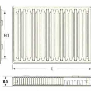 Радиаторы DeLonghi Radel, тип 21, нижнее подключение