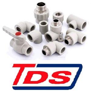 TDS фитинги полипропиленовые, серые