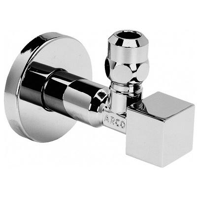 Кран шаровый угловой, НP (с удлиненной гайкой)»квадрат», хром, A-80, арт.1CUBO  1/2″ х 3/8″