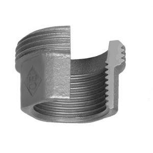 (ATU) Оц-370 Резьбовое соединение под гайку торцевое В/Н, чугун оцинкованный