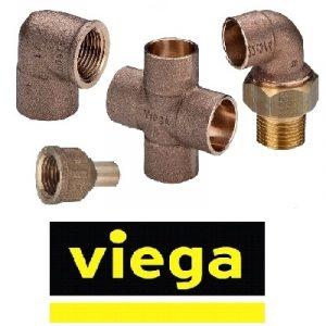 Фитинги бронзовые VIEGA серия 4000 соединение пайка-резьба