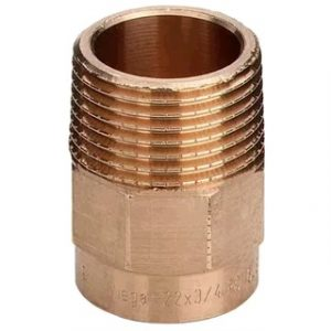 Муфта переходная, бронза, соединение под пайку/НРезьба, VIEGA, артикул 94243g