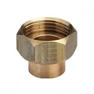 Муфта с накидной гайкой торцевой, бронза, соединение под пайку/ВРезьба, VIEGA, артикул 94359g