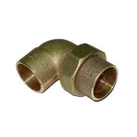 Разъемное соединение угловое коническое, бронза, соединние под пайку, IBP, артикул 4096