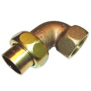 Разъемное соединение угловое коническое, бронза, соединние пайка/ВРезьба, IBP, артикул 4096g