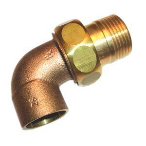 Разъемное соединение угловое коническое, бронза, соединние пайка/НРезьба, IBP, артикул 4098g