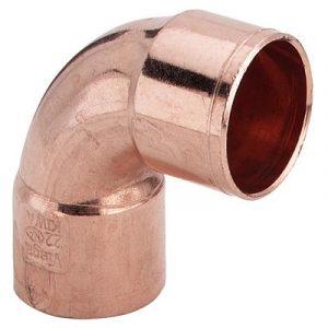 Угол 90⁰ двухраструбный, медь, соединение под пайку, VIEGA, артикул 95090