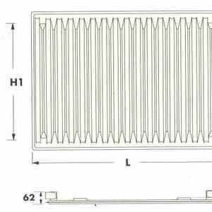 Радиаторы DeLonghi Radel, тип 10, нижнее подключение
