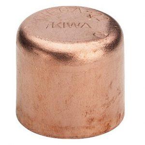Заглушка-колпак, медь, соединение под пайку, VIEGA, артикул 95301