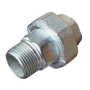 Разъемное соединение торцевое, латунь никелированная, наружная/внутренняя резьба, SOBIME, артикул 81MH