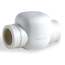 (AST) Обратный клапан ППР горизонтальный PN25 (бел.)