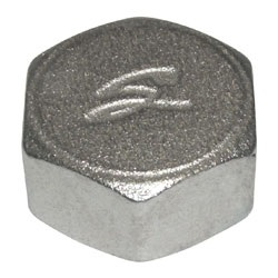 Заглушка-колпак, латунь никелированная, внутренняя резьба, SOBIME, артикул 44