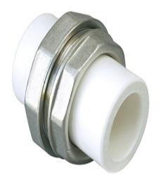 (AST) Муфта ППР комбинированная разъемная под сварку (бел.)
