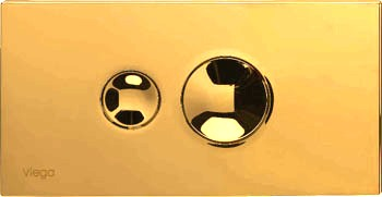 Кнопка Visign for Style 10 Viega 8315.1 для смыва, пластик, цвет»золото» 271х140