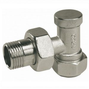 Вентиль прямой, угловой, нижний, латунь, ВР/НР, , LOCKSHIELD, арт.М7563   1/2″