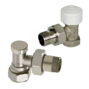 Комплект вентилей, угловые, радиаторные, арт.TD020SK  1/2″х18